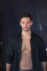 hot man in an open shirt