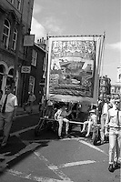 Riccall Branch banner. Yorkshire Area NUM 100th Demonstration and Gala, Barnsley.