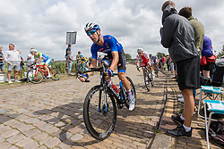 VIVIANI Elia from ITALY during Men Elite Road Race 2019 UEC European Road Championships, Alkmaar, The Netherlands, 11 August 2019. <br /> <br /> Photo by Thomas van Bracht / PelotonPhotos.com <br /> <br /> All photos usage must carry mandatory copyright credit (Peloton Photos | Thomas van Bracht)