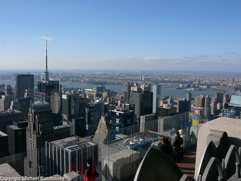 View from Top of the Rock towards the Hudson