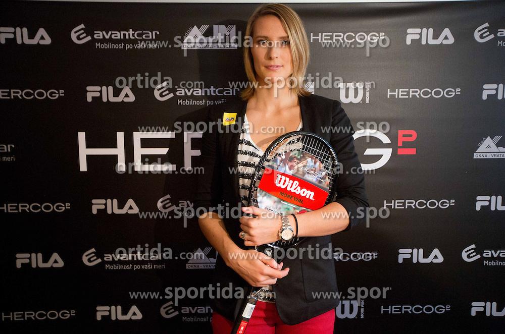 Press conference before new season of Slovenian tennis player Polona Hercog, on December 20, 2012 in Ljubljana, Slovenia. (Photo By Vid Ponikvar / Sportida.com)
