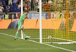 September 27, 2017 - Harrison, New Jersey, United States - Goalkeeper Steve Clark (50) look at ball after allowing goal during regular MLS game against Red Bulls at Red Bull Arena Game ended in draw 3 - 3  (Credit Image: © Lev Radin/Pacific Press via ZUMA Wire)