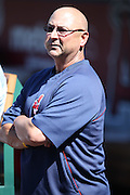 ANAHEIM, CA - AUGUST 21:  Terry Francona #17 manager of the Cleveland Indians watches from the dugout before the game against the Los Angeles Angels of Anaheim on Wednesday, August 21, 2013 at Angel Stadium in Anaheim, California. The Indians won the game 3-1. (Photo by Paul Spinelli/MLB Photos via Getty Images) *** Local Caption *** Terry Francona