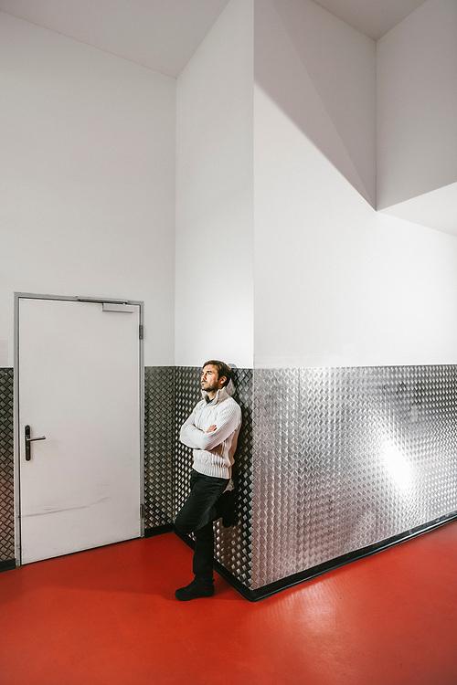 Vincent Mignerot, synesthète et chercheur indépendant, Genève le 28 avril 2017 Photo© Guillaume Perret / Lundi13