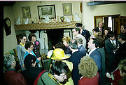 Raisa Gorbachev at Bunratty Folk Park.  (R99)..1989..02.04.1989..04.02.1989..2nd April 1989..While her husband, Russian President Mikhail Gorbachev,was working on state matters ,Mrs Gorbachev was taken on a tour of Bunratty Folk Park in Co Clare. The Gorbachevs were in Ireland as part of a tour of European Capitals...Image shows Mrs Gorbachev as she is introduced to some of the ladies who work within the Folk Park