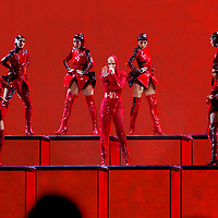 "Katy Perry performs on stage at the ""Witness: The Tour"" concert at the Staples Center on Tuesday, Nov. 7, 2017, in Los Angeles. (Photo by Willy Sanjuan/Invision/AP)"