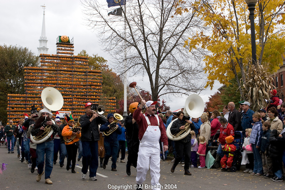 Band at the Children's Parade at Keene Pumpkin Festival