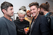 KAMEL; DAPHNE GUINNESS; DEREK BLASBERG; HENRY HOLLAND- ACNE STUDIO LAUNCH. Dover st. London W1. 15 July 2010. -DO NOT ARCHIVE-© Copyright Photograph by Dafydd Jones. 248 Clapham Rd. London SW9 0PZ. Tel 0207 820 0771. www.dafjones.com.