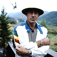 Alan Hillyer<br /> Dundee, UK<br /> http://www.eyemage.co.uk<br /> <br /> Hunter S Thompson photographed at home on Owl Farm, Woody Creek in Colorado, circa July 1983.
