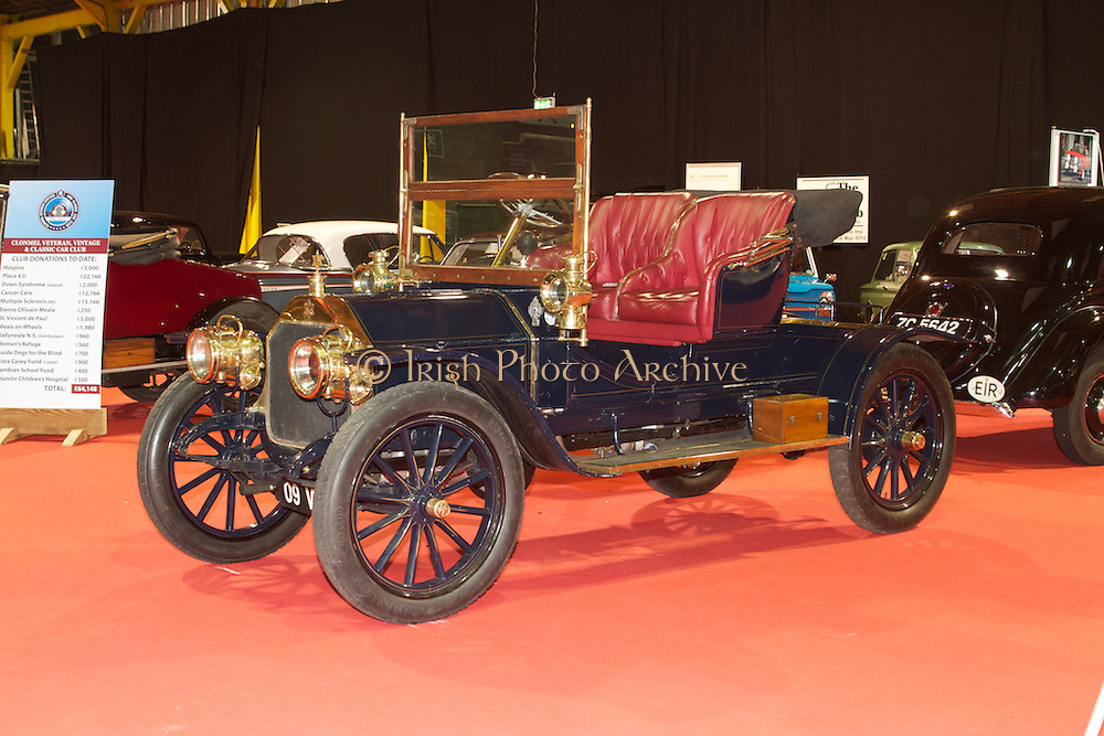 RIAC Classic Car Show 2013, RDS, 1909 Star. Stars cars were one of the oldest British cars, being first produced in 1898 by the Star Cycle company and remained in production until the closure of the company in 1931. Irish, Photo, Archive.
