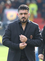 December 3, 2017 - Italy - Benevento, Italy. December 3, 2017: .The new coach of Mlan Gennaro Gattuso. The Benevento after 14 losses manages to equalize and make the first point in Serie A (Credit Image: © Zumapress via ZUMA Wire)
