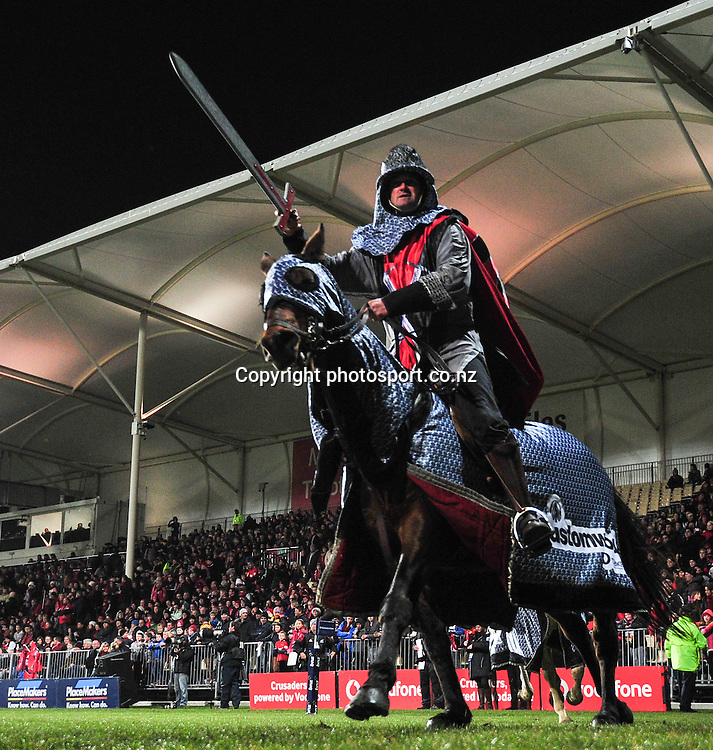 The Crusaders Horses in the Super 15 game, Crusaders v Hurricanes, at AMI Stadium, Christchurch, New Zealand, on the 12 July 2013. Photo:John Davidson/photosport.co.nz