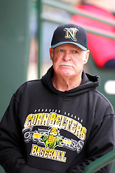 """27May2011: Hitting Coach Charles """"Boots"""" Day  during a game between the Southern Illinois Miners and the Normal Cornbelters at the Corn Crib in Normal Illinois."""