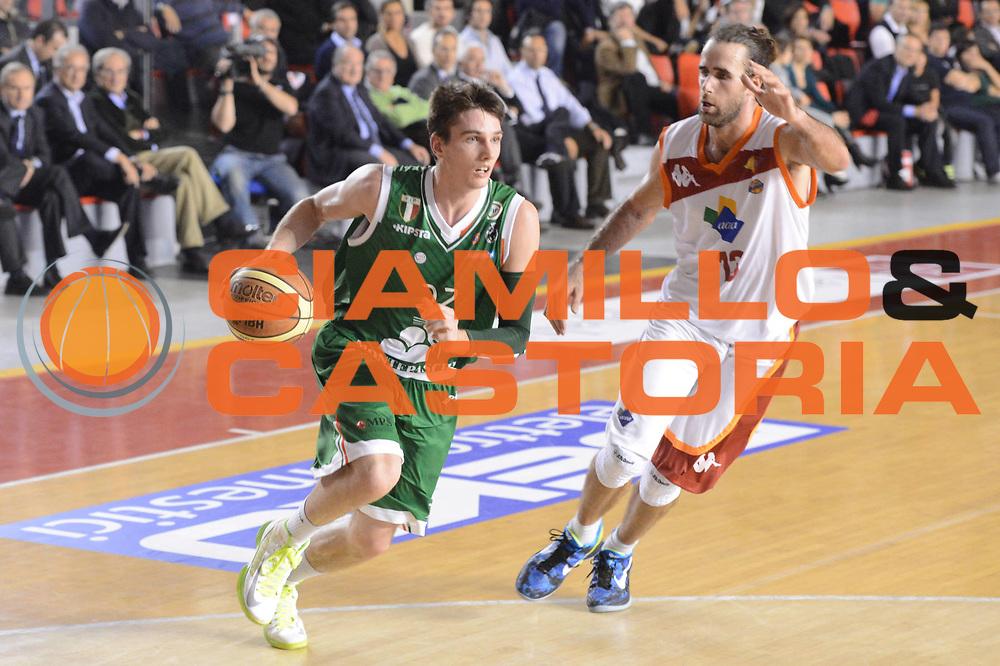 DESCRIZIONE : Roma Lega A 2012-13 Acea Roma Montepaschi Siena <br /> GIOCATORE : Matt Janning<br /> CATEGORIA : palleggio<br /> SQUADRA : Montepaschi Siena<br /> EVENTO : Campionato Lega A 2012-2013 <br /> GARA : Acea Roma Montepaschi Siena <br /> DATA : 12/11/2012<br /> SPORT : Pallacanestro <br /> AUTORE : Agenzia Ciamillo-Castoria/GiulioCiamillo<br /> Galleria : Lega Basket A 2012-2013  <br /> Fotonotizia :  Roma Lega A 2012-13 Acea Roma Montepaschi Siena <br /> Predefinita :