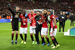 Manchester United players celebrate lifting the EFL Trophy - Mandatory by-line: Matt McNulty/JMP - 26/02/2017 - FOOTBALL - Wembley Stadium - London, England - Manchester United v Southampton - EFL Cup Final
