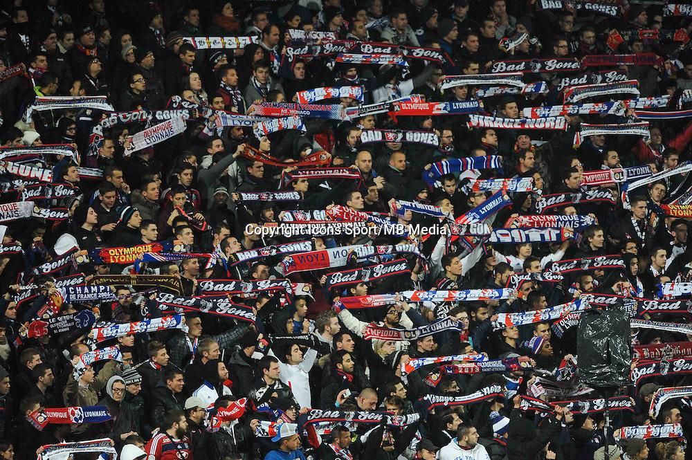 Illustration supporters Lyon  - 04.12.2014 - Lyon / Reims - 16eme journee de Ligue 1  <br /> Photo : Jean Paul Thomas / Icon Sport