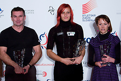 Gorazd Rajher, Nina Kolaric and Mateja Kosovelj at Best Slovenian athlete of the year ceremony, on November 15, 2008 in Hotel Lev, Ljubljana, Slovenia. (Photo by Vid Ponikvar / Sportida)
