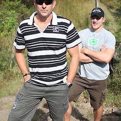 THURSDAY 13TH MAY 2010 / DURBAN SOUTH AFRICA<br /> John Plumtree Head Coach  with Jean Deysel <br /> during the Sharks  off road for the Land rover Experience