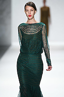 Kate King walks down runway for F2012 Tadashi Shoji's collection in Mercedes Benz fashion week in New York on Feb 9, 2012 NYC
