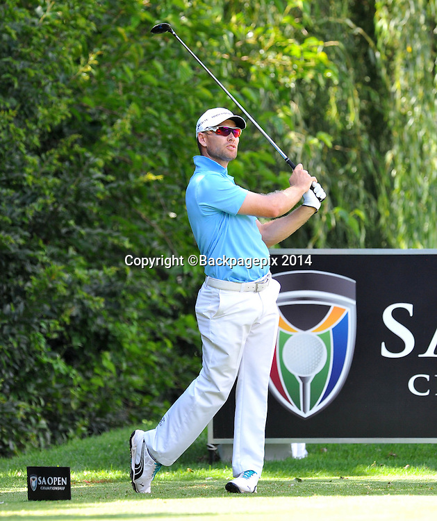 Trevor Fisher Jnr during the 2015 South Africa Golf Open Championship at the Glendower Golf Course in Johannesburg, South Africa on January 08, 2014 ©Samuel Shivambu/BackpagePix