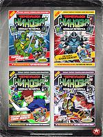 Teenage Mutant Ninja Turtles - Way Of The Ninja Magazine and Trading Cards - Front Covers (Good vs Bad)