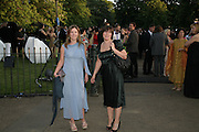 JANE AND LOUISE WILSON, The Summer Party in association with Swarovski. Co-Chairs: Zaha Hadid and Dennis Hopper, Serpentine Gallery. London. 11 July 2007. <br />