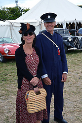 Chalke History Festival - couple dressing up in 1940s clothes. UK 2015