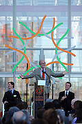 Renzo Piano on opening day at California Academy of Sciences. Gavin Newsom (right) Mayor of San Francisco.The California Academy of Sciences is a world-class scientific and cultural institution based in San Francisco. The Academy recently opened a new facility in Golden Gate Park, a 400,000 square foot structure that houses an aquarium, a planetarium a natural history museum and a 4-story rainforest all under one roof. The new facility was built by renowned architect Renzo Piano....Alternative Energy in Silicon Valley and the San Francisco Bay Area