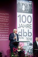 29 NOV 2018, BERLIN/GERMANY:<br /> Festakt mit Bundespraesident Steinmeier anl. des 100. Gruendungsjubilaeums des Beamtenbunds, dbb forum berlin<br /> IMAGE: 20181129-01-117<br /> KEYWORDS;&acute;: Gr&uuml;ndung, Jubil&auml;um,
