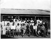 The first Nubian headmaster of the Kibear Primary School and others.  (1971)