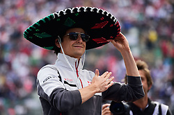 Formel 1: GP von Mexiko 2016 - Rennen in Mexiko-Stadt / 301016<br /> <br /> ***Esteban Gutierrez (MEX) Haas F1 Team on the drivers parade.<br /> 30.10.2016. Formula 1 World Championship, Rd 19, Mexican Grand Prix, Mexico City, Mexico, Race Day.<br />  Copyright: Price / XPB Images / action press ***