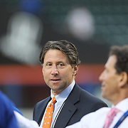 Jeff Wilpon, son of New York Mets principal owner Fred Wilpon, at batting practice before the New York Mets Vs Los Angeles Dodgers, game four of the NL Division Series at Citi Field, Queens, New York. USA. 13th October 2015. Photo Tim Clayton