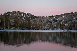 """Paradise Lake Sunset 1"" - Photograph of Paradise Lake in the Tahoe National Forest taken at sunset."