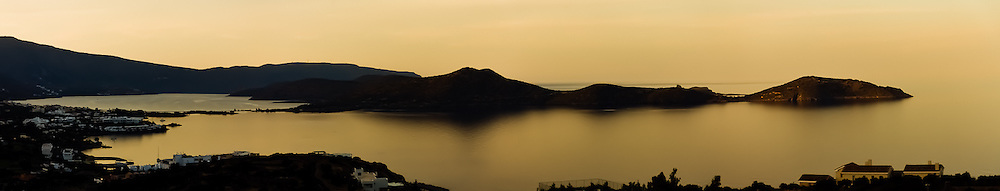Sunset overlooking Elounda Bay, Crete Greece.