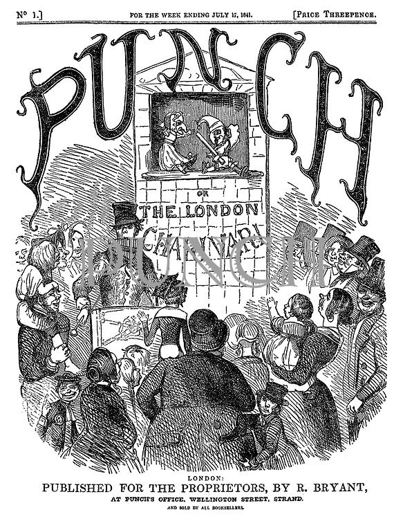 Punch or the London Charivari (front cover, 17 July 1841)