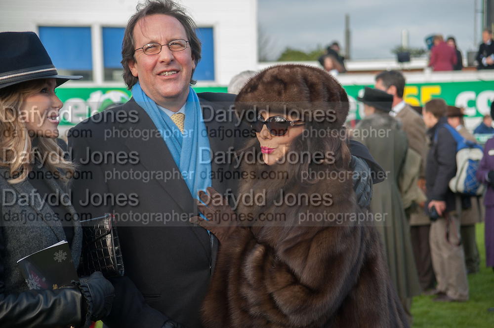 AMANDA HOLDEN; JOAN COLLINC; PERCY GIBSON, Hennessy Gold Cup, The Racecourse Newbury. 30 November 2013.