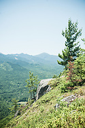 This landscape photograph depicts the view from Baxter Mountain in the Adirondacks in New York.