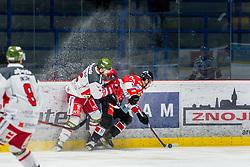 13.01.2019, Ice Rink, Znojmo, CZE, EBEL, HC Orli Znojmo vs HCB Suedtirol Alperia, 38. Runde, im Bild v.l. Matthew Mackenzie (HCB Sudtirol Alperia) Marek Kalus (HC Orli Znojmo) // during the Erste Bank Eishockey League 38th round match between HC Orli Znojmo and HCB Suedtirol Alperia at the Ice Rink in Znojmo, Czechia on 2019/01/13. EXPA Pictures © 2019, PhotoCredit: EXPA/ Rostislav Pfeffer