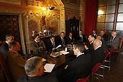Siena, 01/04/2009<br /> Commissione Fiba per il Mondiale 2014 in visita al Palazzo Pubblico di Siena<br /> Foto Ciamillo