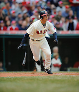 The Cleveland Indians defeated the Chicago White Sox Monday, March 31 at Progressive Field in Cleveland. The Indians defeated the White Sox 10-8.. Grady Sizemore hits a home run in the second inning.