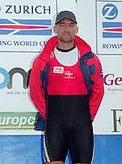 Vienna AUSTRIA. Gold Medalist; SUI M1X Xeno MUELLER.  2000 FISA World Cup. 2nd Round. Vienna Neue Donau Rowing Course  [Mandatory Credit. Peter Spurrier/Intersport Images]