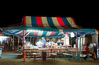 Hot dog tent at night, Blue Hill Fair, Maine.