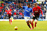 Rangers Striker Alfredo Morelos during the Ladbrokes Scottish Premiership match between Rangers and Kilmarnock at Ibrox, Glasgow, Scotland on 16 March 2019.