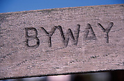 AE2CJ2 Wooden Byway sign