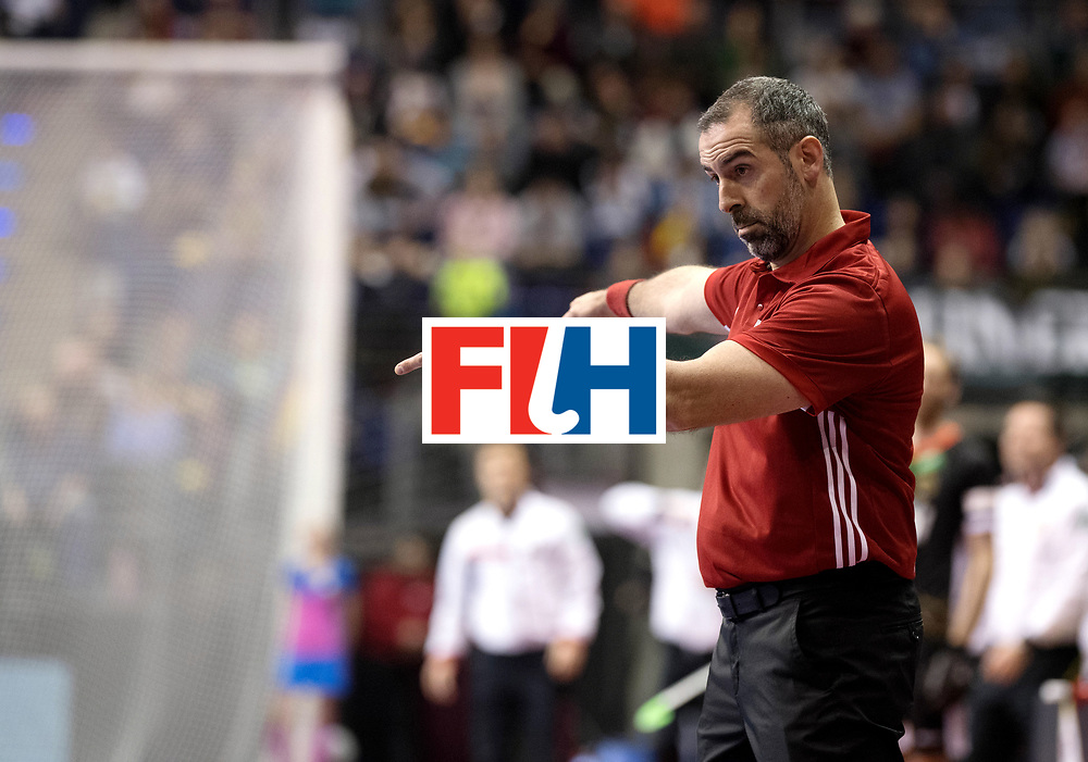 BERLIN - Indoor Hockey World Cup<br /> Semi-final 1: Germany - Iran<br /> foto: Luis Martinez.<br /> WORLDSPORTPICS COPYRIGHT FRANK UIJLENBROEK