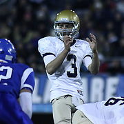 Salesianum quarterback Matt Sgro (3) calls the play at the line in the fourth quarter of the DIAA State Championship football game against Middletown Saturday, Nov. 30 2013, at Delaware Stadium in Newark Delaware.