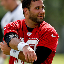 May 31, 2012; Metairie, LA, USA; New Orleans Saints quarterback Chase Daniel (10) during organized team activities at the team's practice facility. Mandatory Credit: Derick E. Hingle-US PRESSWIRE