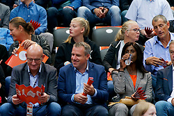 13-09-2019 NED: EC Volleyball 2019 Netherlands - Montenegro, Rotterdam<br /> First round group D Netherlands win 3-0 / VIP support fan