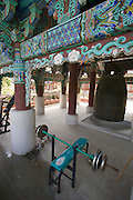 Beomeosa Temple. Monks' workout bench.