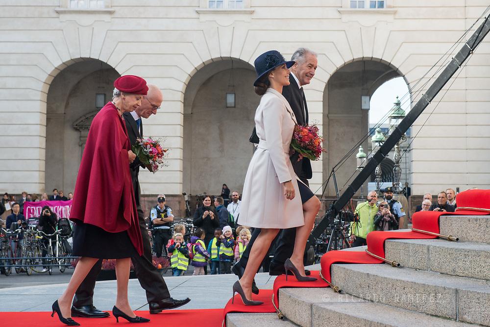 03.10.2017. Copenhagen, Denmark. <br /> Princess Marie, Princess Benedikte attended the opening session of the Danish Parliament (Folketinget) at Christiansborg Palace in Copenhagen, Denmark.<br /> Photo: &copy; Ricardo Ramirez